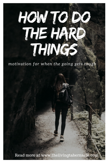 How to do the hard things